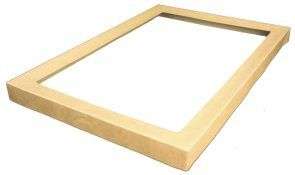 PINNACLE BROWN KRAFT LID FOR CATERING TRAY 4, 454X313X30MM - 50 - CTN