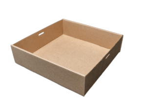 PINNACLE BROWN KRAFT CATERING TRAY 5, 255X225X60MM - 100 - CTN ( ECT5 )