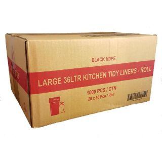 "TP 36L BLACK  ""LARGE"" KITCHEN TIDY - 1000 -CTN"