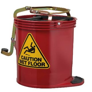 OATES CONTRACTOR ROLLER WRINGER BUCKET - RED - EACH