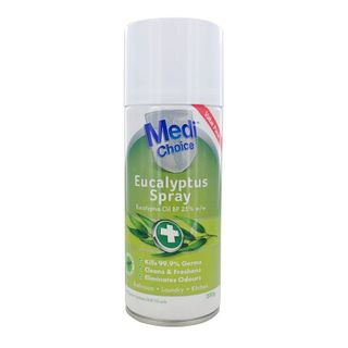 MEDI CHOICE EUCALYPTUS SPRAY PHARMACEUTICAL GRADE ANTIBACTERIAL - CLEANS & DEODORISES - 200G - 6 - CTN