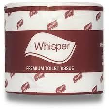 WHISPER PREMIUM 2 PLY 600s x 48 ROLLS TOILET TISSUE -CTN