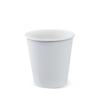 CUSTOM WHITE SINGLE WALL COFFEE CUP- 8oz (90mm) - 1000 - CTN