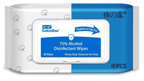 COTTONDEW 75% ALCOHOL WIPES - 80 WIPES X 30PKT - CTN