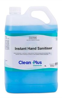 CLEAN PLUS GEL INSTANT HAND SANITISER ( 70% ALCOHOL ) WITH ALOE & VITAMIN E - 5L
