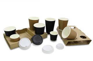 LOCKEY CARDBOARD 4 CUP DRINK HOLDER / TRAY - 100 - CTN