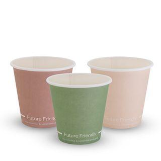 FUTURE FRIENDLY SINGLE WALL PRINT SERIES COFFEE CUP - 08oz - PLA ( UNI 90mm ) - 50 - SLV