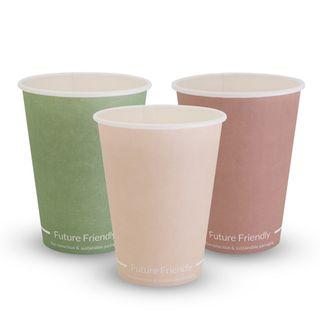 FUTURE FRIENDLY SINGLE WALL PRINT SERIES COFFEE CUP - 12oz - PLA ( 90mm ) - 1000 - CTN