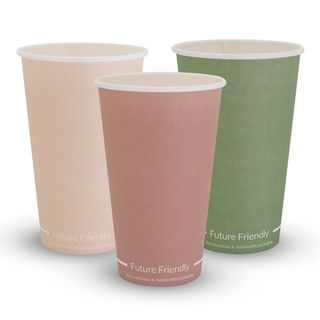 FUTURE FRIENDLY SINGLE WALL PRINT SERIES COFFEE CUP - 16oz - PLA ( 90mm ) - 50 - SLV