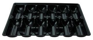 PINNACLE 12 POCKET OYSTER TRAY - BLACK - 300 - CTN