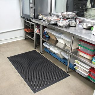 CUSHION EASE 850mm X 2700mm BLACK NITRILE RUBBER SAFETY MAT - EACH ( SPECIAL ORDER PRODUCT )