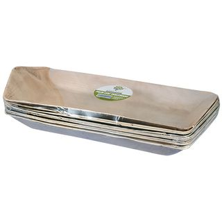 PALM LEAF TRAY RECTANGULAR BOAT 540 X 220MM ( ECOTR5422R ) - 10 - SLV