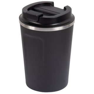 GO GREEN ' SLATE ' REUSABLE COFFEE CUP - DOUBLE WALL STAINLESS STEEL 380ML - EACH