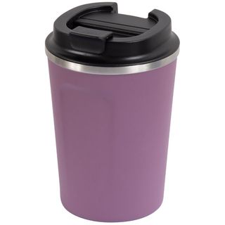 GO GREEN ' BERRY ' REUSABLE COFFEE CUP - DOUBLE WALL STAINLESS STEEL 380ML - EACH