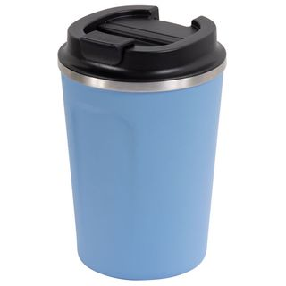 GO GREEN ' SURF ' REUSABLE COFFEE CUP - DOUBLE WALL STAINLESS STEEL 380ML - EACH