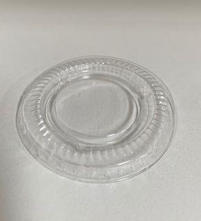 CAPRI P100 FLAT LID (30mL) CLEAR PLASTIC - 100 - SLV