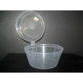 30ml CONTAINER WITH HINGED LID - (1OZ / 30ml) - 200 - SLV