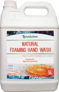 REVOLUTION CERTIFIED NATURAL FOAMING HAND WASH - ORGANIC SWEET ORANGE - 5L