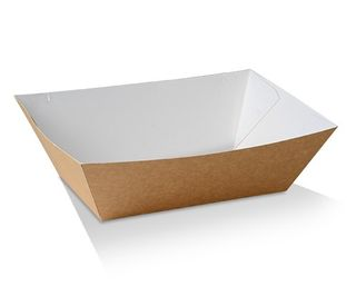 GREENMARK BROWN & WHITE CARDBOARD # 5 TRAY 110X185X80MM ( BT5 ) - 200 - CTN