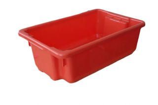 NALLY CRATE / BIN 13.5L NO.4 - RED (IH089RED) - EACH