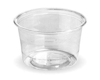 BIOPAK 140ml SAUCE CUP - (takes C-76 Lid) - clear - 1000 - CTN ( R-140 )