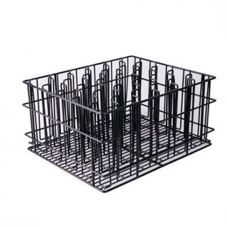 VOGUE GLASS BASKET 30 COMPARTMENT PVC COATED BLACK ( GH685 ) - EACH