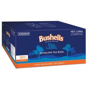 BUSHELLS BLUE LABEL ENVELOPED TEA CUP BAGS  - 1200 -CTN ( 67821649 )