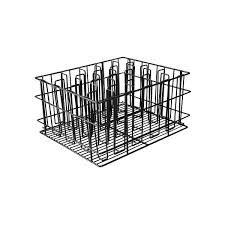 TRENTON GLASS BASKET PVC COATED BLACK 20 COMPARTMENT 30920