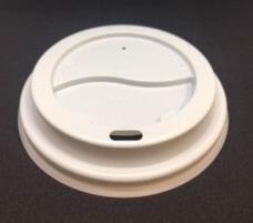 CUSTOM LID - WHITE 6oz - 8oz (80mm) FLAT COFFEE CUP LID - 50 - SLV