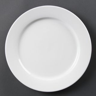OLYMPIA WHITEWARE WIDE RIMMED PLATES 280MM ( CB482 ) - 6 - CTN