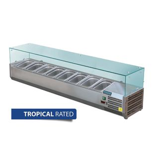 POLAR G-SERIES COUNTERTOP PREP FRIDGE 8 X 1/3 GN - 1800MM L - GD877-A - EACH