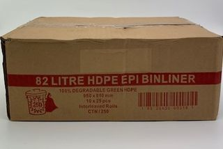 TP 82L BIODEGRADABLE GREEN BIN LINERS - 250 -CTN