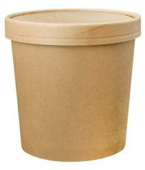 PINNACLE 26OZ KRAFT HOT / COLD FOOD CONTAINER + LID COMBO - 25 CONTAINERS + LIDS - SLV