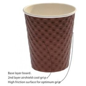 TP TRIPLE WALL CORRUGATED COFFEE CUP- BROWN - 80Z - 25 - SLV