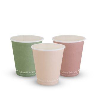 FUTURE FRIENDLY SINGLE WALL PRINT SERIES COFFEE CUP - 06oz - PLA ( 80mm ) - 50 - SLEEVE