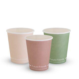 FUTURE FRIENDLY SINGLE WALL PRINT SERIES COFFEE CUP - 08oz - PLA ( 80mm ) - 50 - SLV