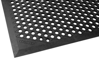 CUSHION EASE 550mm X 850mm BLACK NITRILE RUBBER SAFETY MAT - EACH