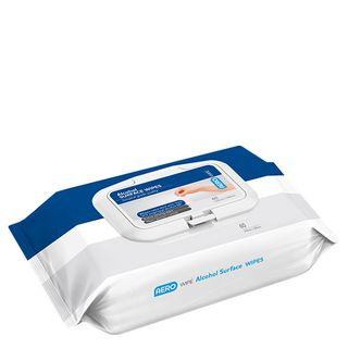 AEROWIPE ALCOHOL SURFACE WIPES 75% V/V ISOPROPYL - 60 WIPES / PACK - SIZE: 150mm x 180mm - PACK