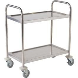 VOGUE STAINLESS STEEL 2 TIER TROLLEY- F997 - MEDIUM - EACH