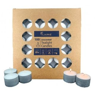 ALPEN LUME TEA LIGHT CANDLES 8 HR ( 420107 ) - 100 - SLV