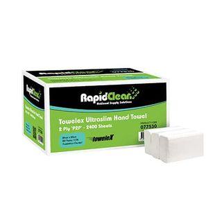 RAPID CLEAN ULTRASLIM / SUPERSLIM INTERLEAVED HAND TOWELS - 77530 - 2400-CTN