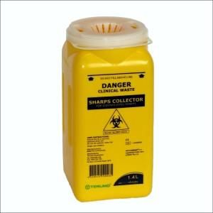 SHARPS DISPOSAL CONTAINER 1.4L YELLOW ( SC-5847 ) - EACH