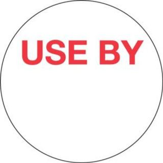 FOOD SAFETY LABEL 24MM ROUND USE BY PERMANENT ( 71200 ) - 1000 - ROLL