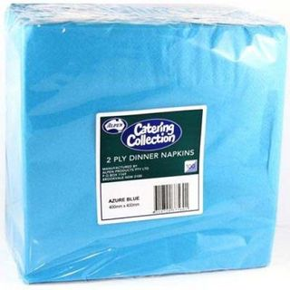 ALPEN CATERING COLLECTION AZURE BLUE 2PLY DINNER NAPKIN - 100 - PKT