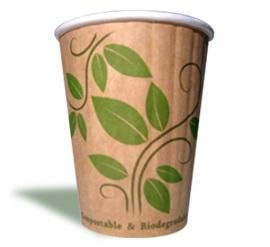 ENVIRO CHOICE - DOUBLE WALL COMPOSTABLE COFFEE CUPS - 8OZ - 25 - SLV