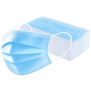 DISPOSABLE PROTECTIVE FACE MASKS - 50 - PACK