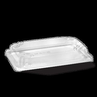BIOPAK LARGE SUSHI TRAY PLA LID CLEAR - 216X135X32mm - 50 - ( B-STL-LARGE ) - SLV