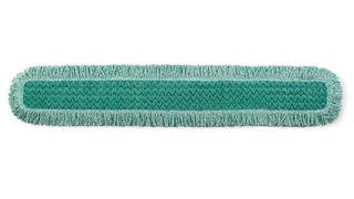 """RUBBERMAID HYGEN 48"""" MICROFIBRE DUST PAD WITH FRINGE - GREEN - 132.1cm x 22.9cm x 1.3cm - 6 - CARTON"""