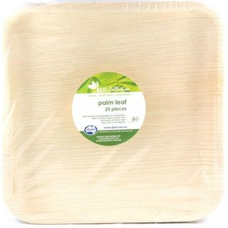 """ALPEN ECO COLLECTION PALM LEAF PLATE SQUARE FLAT 250 x 250MM ( 10"""" ) ( 461130 ) - 100"""