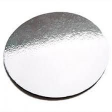 """6"""" (150MM) SILVER FOILED CAKE CIRCLE 2.8MM - 50 - PACK"""